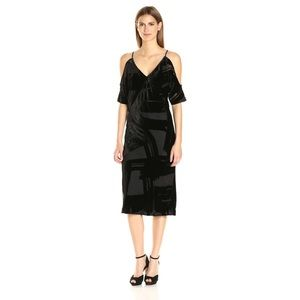 NWT Trina Turk Spotlight Sumi Velvet Midi Dress 10